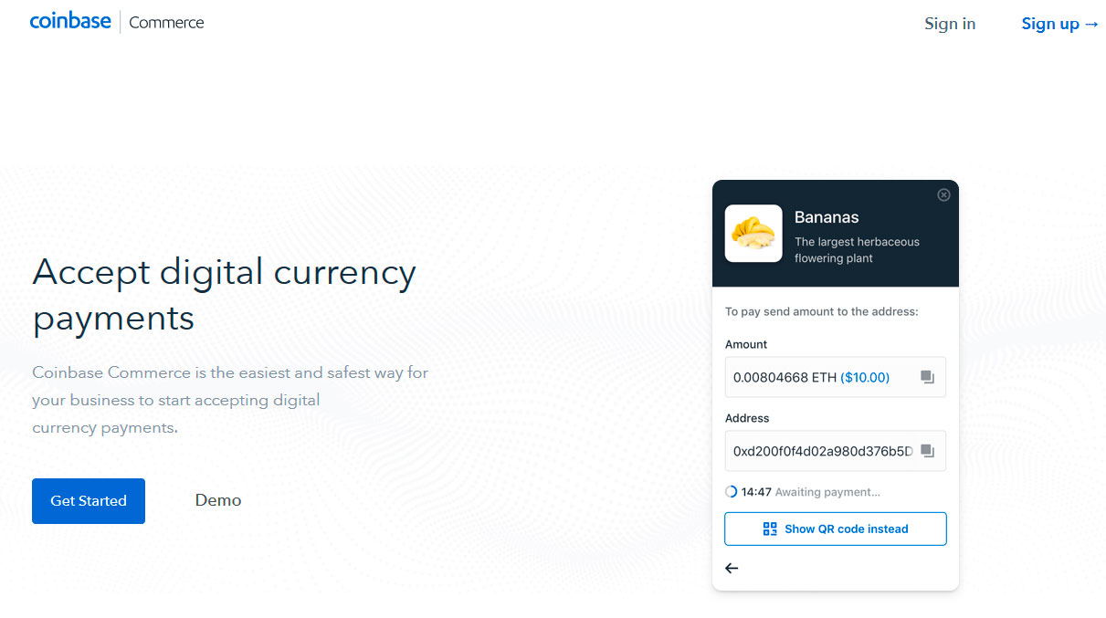 Coinbase launches merchant solution accepting cryptocurrencies